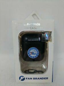 Philadelphia 76ers NBA Fan Brander Black Leather AirPod Case
