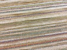 Designer Heavyweight Multi Baron Striped Chenille Curtain Upholstery Fabric