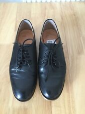 Ladie's Clarks Black Genuine Leather Smart Brogues Lace Up Shoes Size 5 1/2