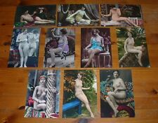 SET OF TEN ART DECO NUDE POSTCARD SIZE PHOTO  PRINTS.TAKEN FROM ORIGINALS