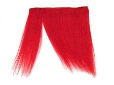 "CLIP-IN HUMAN HAIR FRINGE BANGS CYBERLOX NEON RED UNCUT 8"""