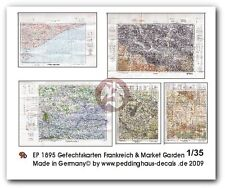 Peddinghaus 1/35 Real Battle Maps of France & Oper. Market Garden (5 maps) 1895