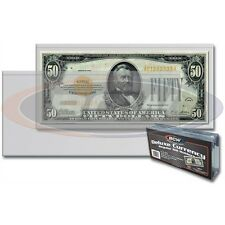 Ticket, Outsize Trading Card or Currency Deluxe Toploader - 6⅛ x 2⅛ inches, 50pk