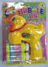 LIGHT UP DUCK BUBBLE GUN WITH SOUND endless toy bottle bubbles maker machine NEW