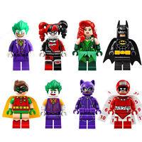 8set Super HeroesHarley Quinn Clown Calendar Man Minifigures Building BlocksToy
