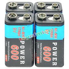 4pcs durevole 9V 9 Volt 600mAh Power Cell Ni-MH ricaricabili blocco PPS