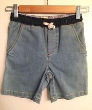 NWT BODEN Boys Soft Denim Shorts Indigo Size 7