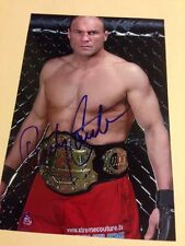 Randy Couture MMA Fighter Signed 4X6 photo Auto Expendables