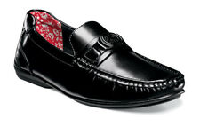 6e2a362bfe3 Stacy Adams Cyrus Black MOC Toe Bit Leather Lined Summer Loafer Size 11