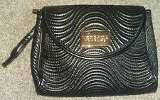 Brand New Versace Parfums Black Quilted Evening Clutch Blag