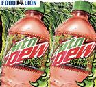 🦁EXCLUSIVE🦁 2x 20oz Uproar Mountain Dew bottles 2021 Food Lion LTO