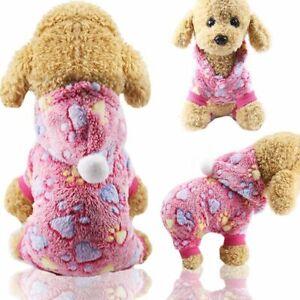 Winter Dog Clothes Pajamas Fleece Jumpsuit Four Legs Warm Pet Clothing Outfit