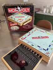 Monopoly and Scrabble + 4 Classic Games Solid Wood Cabinet 215261 Domino, Chess