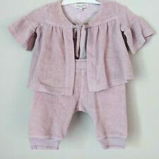 Luna Luna Copenhagen 3 6 Month Pink French Terry Cloth Two Piece Set