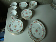 Vintage SGK China Occupied Japan White Handpainted Gold Guild Large 51 piece set