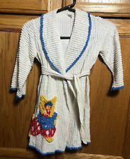 Vintage Child Toddler Chenille Robe Housecoat Children Clothing 1950's