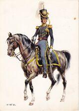 alte AK, Offizier mit Pferd, Vereinigte Staaten von Amerika 1836, 1969 gestemp.
