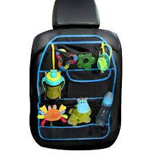Asiento Trasero coche Organizador con varios bolsillos de almacenamiento bebé viaje (Azul)