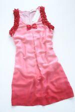 POLE&POLE - red frilled trapeze dress + back tie L / 12