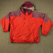 VTG The NORTH FACE Jacket Gore-Tex Anorak Pullover Made USA w/ Hood L Red Purple