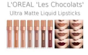 L'OREAL 'Les Chocolats' Ultra Matte Liquid Lipstick Nude Neutral Shades NEW IN!
