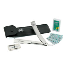 Half Blade Cut Throat - Straight Razor with Replaceable Blades Stainless Steel