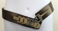 Roberto Mantellassi Wide Metallic Leather Hip Belt SZ M                 (J12)