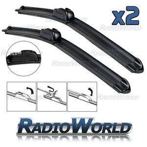 Aero Front Window / Windscreen Car Wiper Blades Pair Upgrade - Select Size