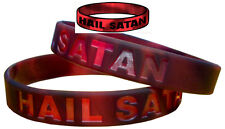 Hail Satan Wristband Devil Worship Sin Metal Antichrist Black Witch Evil TW021
