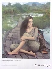 publicité  de presse SAC  LOUIS VUITTON  ANGELINA JOLIE  en 2011  ref. 38751