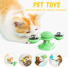 Durable Turning Windmill Turntable Tickle Cat Toy Scratch Hair Brush For Cat