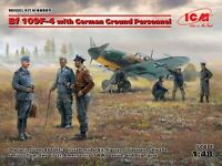 ICM 48805 - 1/48 Bf 109F-4 with German Ground Personnel, scale model kit