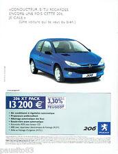 PUBLICITE ADVERTISING 056  2003  la 206 Peugeot xt Pack