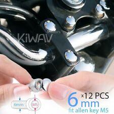 KiWAV chrome bolt screw nut head cover cap for M6 bolt (M5 hex key) 12pcs/pack