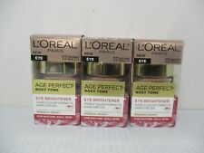 3 L'OREAL AGE PERFECT ROSY TONE EYE  BRIGHTENER 0.5 oz EA EXP 1/22+ JL 9410