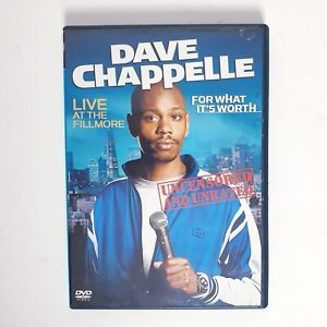 Dave Chappelle For What Its Worth Stand Up DVD Movie Region 4 AUS Free Post