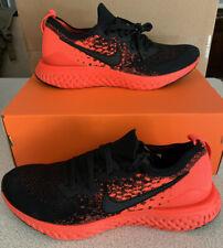 Nike Men's Epic React Flyknit 2 Bright Crimson / Black Size 10 BQ8928-008
