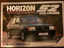 Catalogo Automóvil Talbot Horizon S2