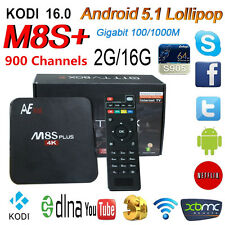Anewish 2G 16G M8S+ Plus Android 5.1 TV Box 1 Year World 1400 Channels IPTV