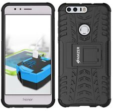 AMZER Rugged Hybrid Warrior Shockproof Case Kickstand Armor Cover Huawei Honor 8
