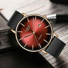 LIGE Mens Women Top Brand Luxury Fashion Cool Quartz Watch  with Silicone Strap