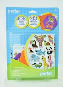 Perler - Tiny Animals Kit - 1004 Pieces - Fused Bead Kit - 24 Projects (New)