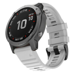For Garmin Fenix 6X 5 5X Plus 3 Silicone Quick Install Watch Band Easy Fit Strap