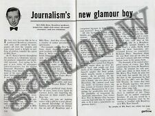BILLY ROSE 1946 NEW JOURNALIST FEATURE BROADWAY PRODUCER SONGWRITER SHOWMAN