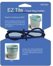 NEW EZ Tite Trash Liner Garbage Bag Holder Stretch Around Can Lid Rim to Secure
