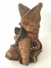 Vintage 1981 Cowboy Boot Statue Gun Spur Universal Statuary Corp Chicago Western