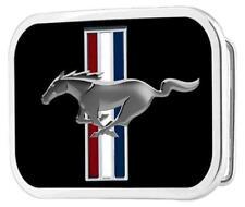 Ford Mustang Pony Logo Rockabilly Retro Belt Buckle Gürtel Gürtelschnalle Black