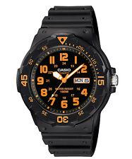 Casio Men's Quartz Rotating Bezel Black Resin 44.5mm Watch MRW200H-4BV
