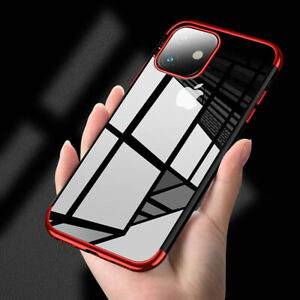 For iPhone 12 Pro Max Mini 11 XS XR 8 7 6 Plating Slim Clear Silicone Case Cover