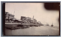 Egypte, Port Said (بورسعيد), Le Quai  Vintage citrate print.  Tirage citrate